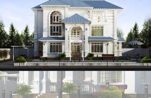 Hỏi mẫu thiết kế biệt thự 2 tầng đẹp?