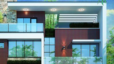 Tổng hợp mẫu thiết kế biệt thự 2 tầng hiện đại đẹp 2018