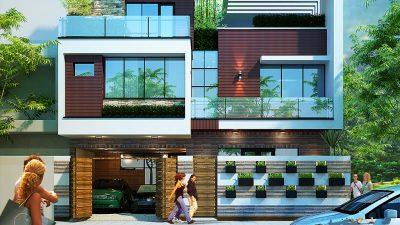 Mẫu thiết kế biệt thự 2 tầng 200m2 hiện đại đẹp 2018
