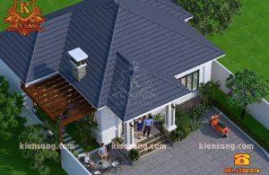 Mẫu biệt thự 1 tầng mái thái hiện đại tại Hà Nội