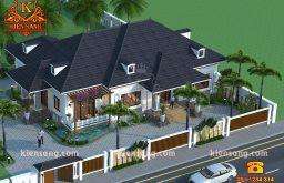 Công ty thiết kế biệt thự hiện đại 1 tầng tại Hà Nội