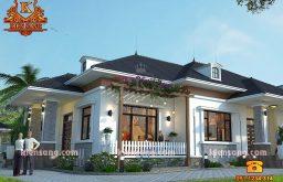 Mẫu biệt thự mini 1 tầng hiện đại tại Hà Nội