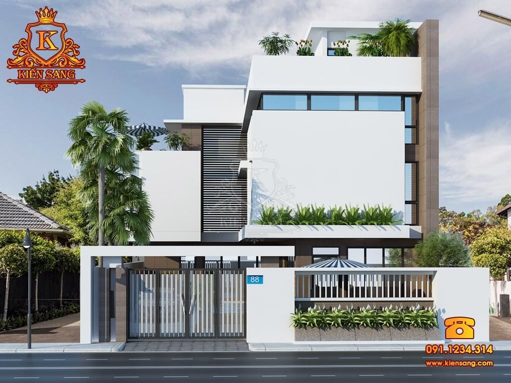 Mẫu biệt thự 3 tầng hiện đại có bể bơi 4 mùa - Mã công trình KS50575